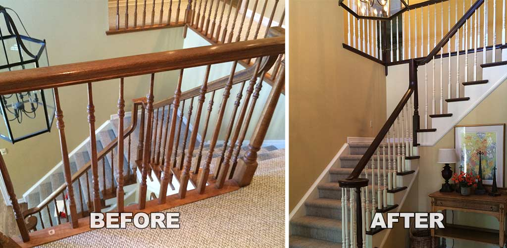 Imhoff Painting Making Your Staircase Match Your Hardwood Floor
