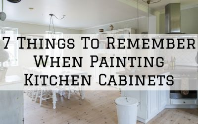 7 Things To Remember When Painting Kitchen Cabinets in Denver Metro, CO