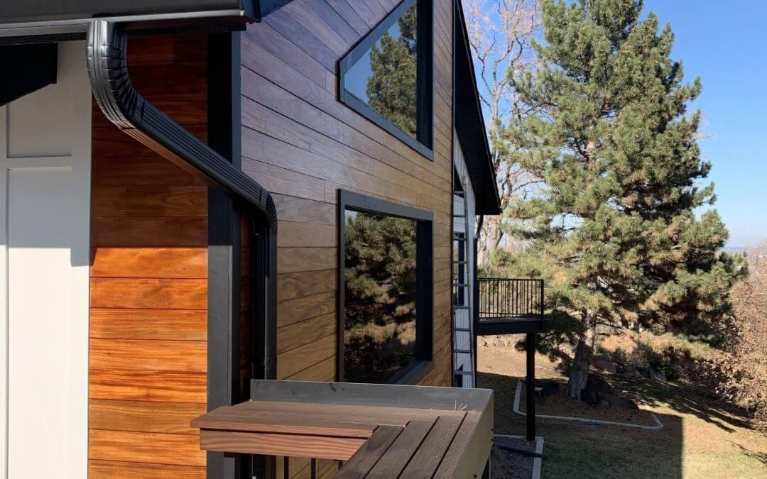 Denver exterior painting closeup