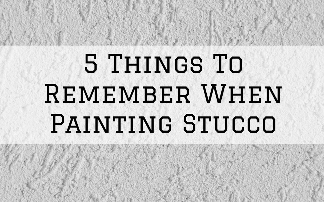 2020-06-17 Imhoff Fine Residential Painting Denver Metro CO Stucco Painting Tips