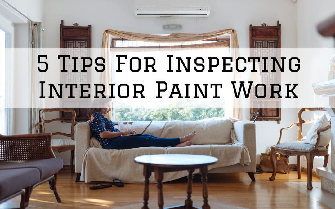 2020-11-01 Imhoff Fine Painting Denver Metro CO Inspecting Interior Paint Work